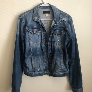 Francesca's Distressed Jean Jacket (Medium Wash)